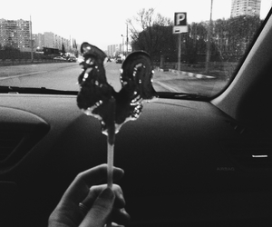 black&white, road, and moscow image
