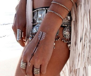 hippie, ring, and sexy image