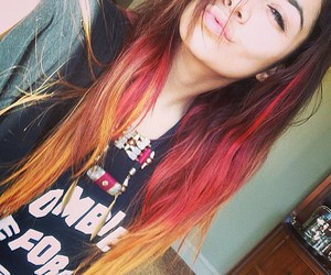 hair, vanessa hudgens, and red image