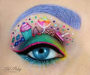 makeup, eye, and candy image
