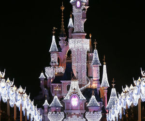 disney, disneyland, and christmas image