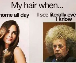 hair, funny, and lol image