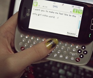 cellphone, feelings, and sms image
