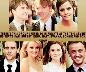 emma watson, tom felton, and big seven image