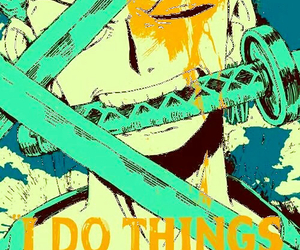one piece, zoro, and anime image
