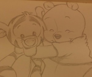 disney, drawing, and hug image