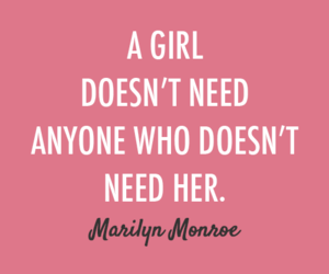girl, quotes, and Marilyn Monroe image