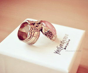 ring, YSL, and Yves Saint Laurent image