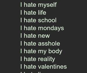 asshole, i hate, and mondays image