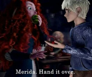 brave, merida, and jack frost image