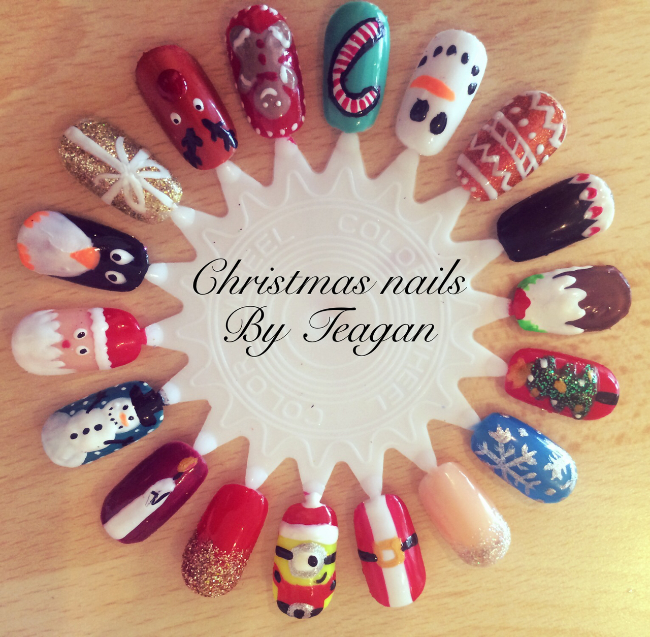 My Christmas nails discovered by Teagan on We Heart It