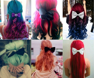 bow, color, and girls image