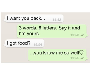 food, love, and message image