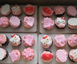 cupcake, cute food, and kitties image