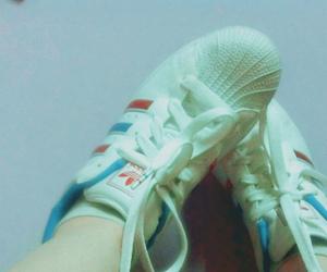 addidas, girl, and red image