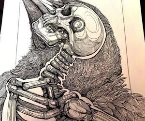 skeleton, drawing, and art image