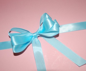 blue, bow, and pink image
