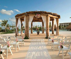 wedding, beach, and beautiful image
