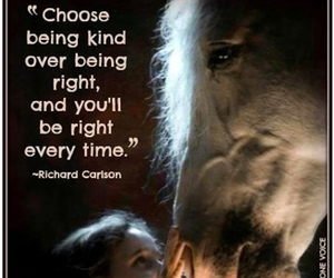 words to ponder and child with horse image