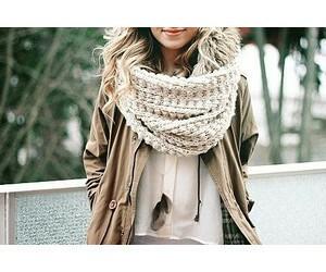 fashion, autumn, and scarf image
