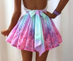 bow, colors, and dress image