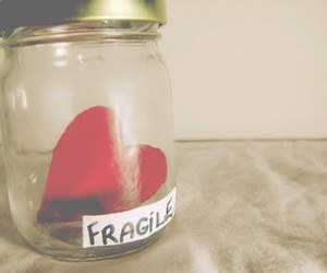 heart, fragile, and jar image