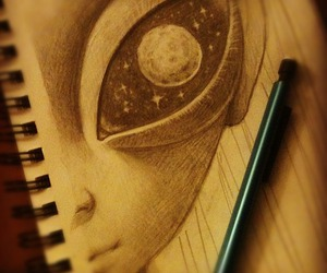 alien and draw image