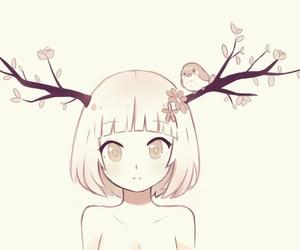 anime, bird, and fall image