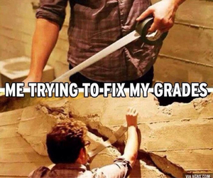 grades, school, and funny image