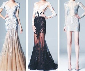 dress, Zuhair Murad, and black image