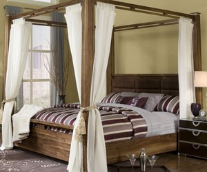 furniture design, canopy bed ideas, and ikea design image
