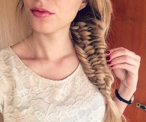 braid, blonde, and girl image
