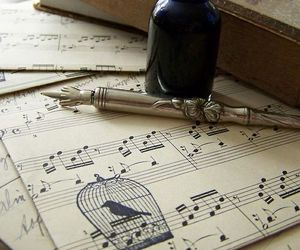 music, bird, and vintage image