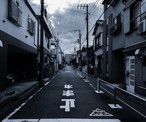 japan, black and white, and photography image