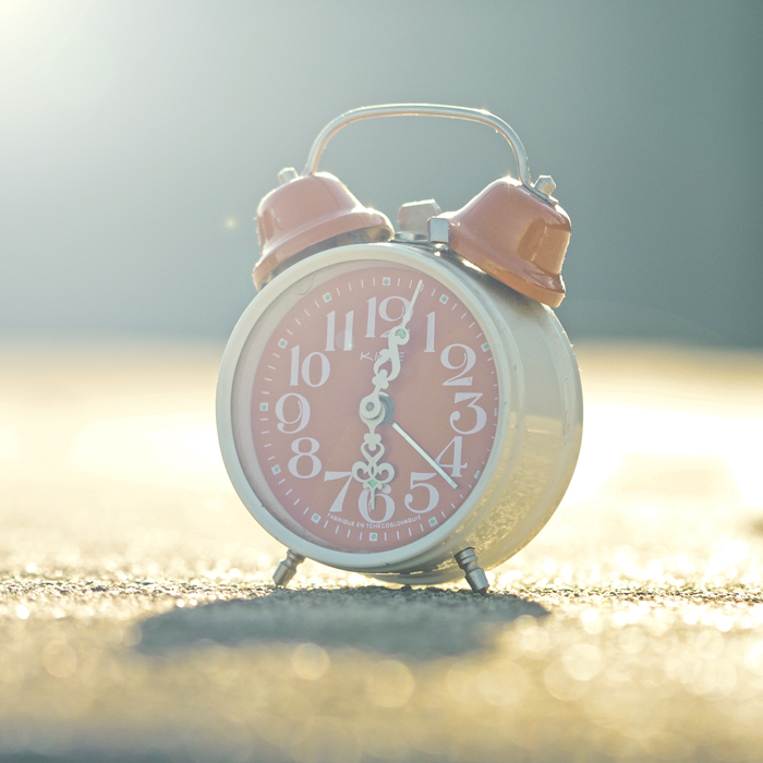 clock, pastel, and pink image