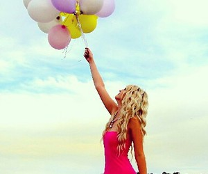 balloons, beauty, and birthday image
