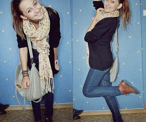 girl, scarf, and young image