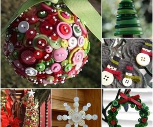 buttons, christmas, and diy image
