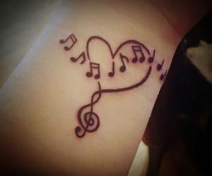 music and tatto image