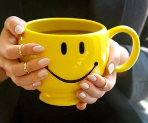 happy, mug, and smile image