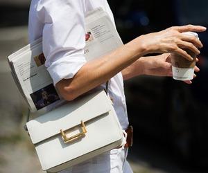 fashion, white, and coffee image