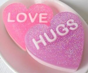 love, hug, and pink image