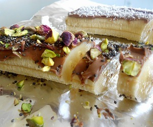 banana, sushi, and pistachios image