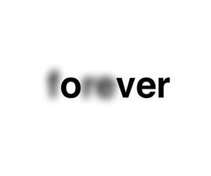 black, forever, and over image