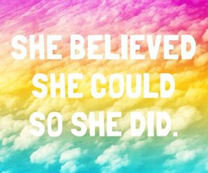 believe and rainbow image