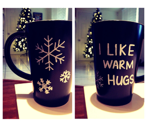christmas, coffee, and hug image