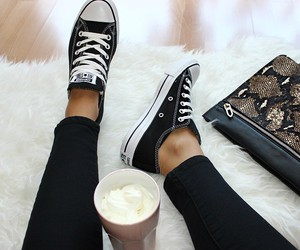 fashion, black, and converse image