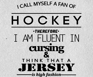 hockey, Lyrics, and quote image