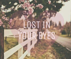 love, eyes, and lost image