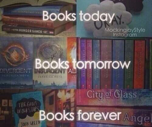 harry potter, the fault in our stars, and the hunger games image